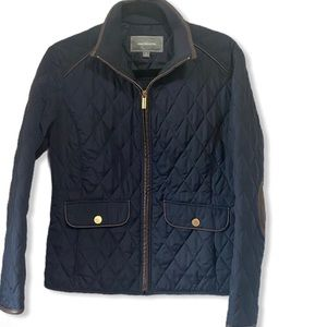 Johnston & Murphy quilted Navy blue zip up jacket